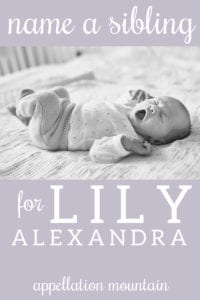 NH: Sibling for Lily Alexandra