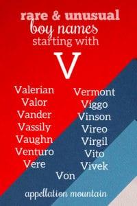 V names for boys