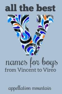 V boy names