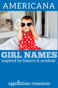 girl names inspiredby America
