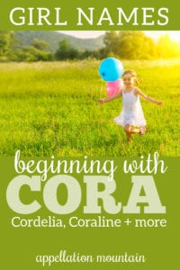 names beginning with Cora