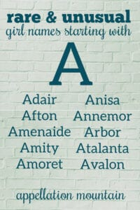 rare A names for girls