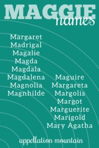 Maggie names