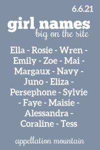 girl names 6.6.21