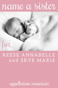 Name Help: A Sister for Reese and Skye
