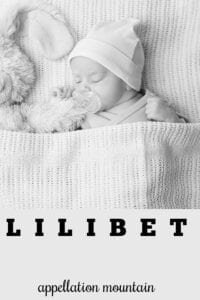 girl name lilibet
