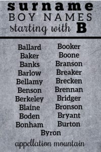 boy names starting with B