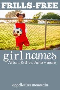 frills-free girl names