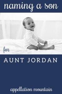 Name Help: Jordan for a boy?