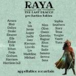 Raya and the Last Dragon production babies