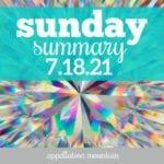 Sunday Summary 7.18.21