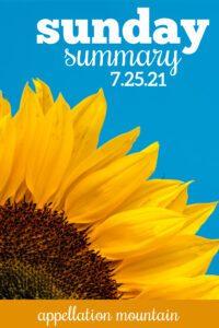 Sunday Summary: 7.25.21