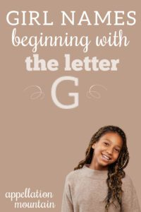 Girl Names Starting with G