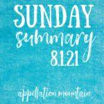 Sunday Summary 8.1.21