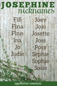 Josephine nicknames