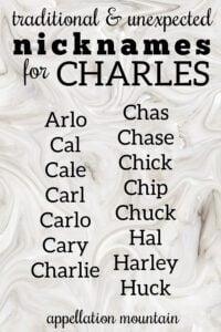 Charles nicknames