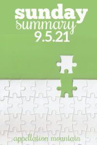 Sunday Summary: 9.5.21