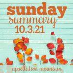Sunday Summary: 10.3.21