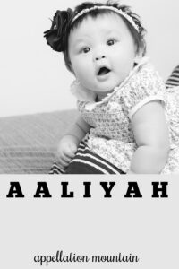 baby name Aaliyah
